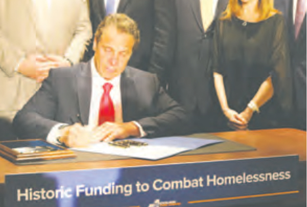 Governor Cuomo signs historic legislation to help combat homelessness.