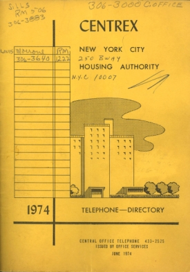 Hercules Cornish's copy of the 1974 Centrex, the Housing Authority's Central Office employee directory